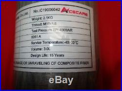 Paintball PCP Acecare 3L CE 4500Psi Carbon Fiber Cylinder Scuba Tank with Valve
