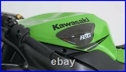 R&G Racing Carbon Fibre Tank Sliders for Kawasaki ZX6R 2009-2014 (Kwak Tank)