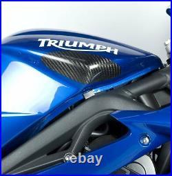 R&G Racing Carbon Fibre Tank Sliders to fit Triumph 675 Street Triple 2007-2012