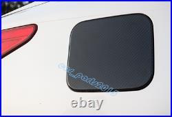 Real Carbon Fiber Fuel Tank Gas Oil Box Cover Trim For Infiniti Q50 Q50L 2014-19
