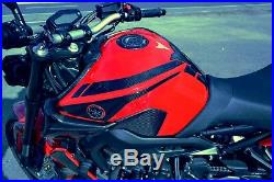 Real Carbon Fiber Tank Protector Pad Sticker with edge pads Fit Yamaha MT09 FZ09