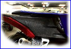 Real carbon fiber tail fairing trim pad Fit Yamaha YZF-R6 tank Protector set