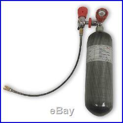 Rifle PCP use 2.17L CE Carbon Fiber Scuba Tank 4500psi Cylinder Bottle Tactical