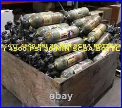 Scott 4500PSI 30Min SCBA Carbon Fiber Bottle Tank Cyl 2008 CGA 347 CURRENT HYDRO