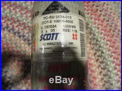 Scott 4500psi 45 Min Mfr 2005 Carbon Fiber SCBA Air Pak Bottle Cylinder Tank
