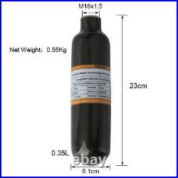 Scuba 0.35L Air Tank Paintball CE Carbon Fiber M18x1.5 Thread 300Bar Cylinder