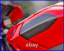 Strauss Yamaha R1 R1M Carbon Fibre Tank Sliders 2015-19 Gloss