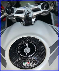 TWM Carbon Fiber Gas Cap Fuel Tank Cover for Monster V4 XDiavel Streetfighter