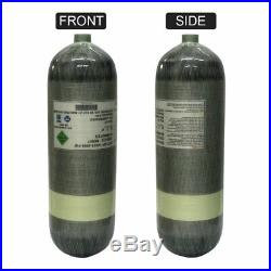 Tank Paintball 9L 4500psi Air Compressed Cylinder PCP Carbon Fiber High Pressure