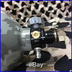 USED Guerrilla Air Carbon Fiber Tri Label Compressed Air Tank Camo 70/4500