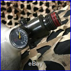 USED Ninja Grey Ghost Carbon Fiber Air Tank withAdjustable Regulator 50/4500
