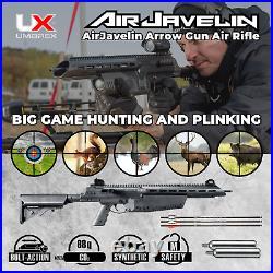 Umarex AirJavelin Arrow Gun Air Rifle w 3 Carbon Fiber Arrows w 2x90gr CO2 Tanks