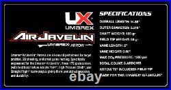 Umarex AirJavelin Arrow Gun Air Rifle w 9 Carbon Fiber Arrows w 2x90gr CO2 Tanks
