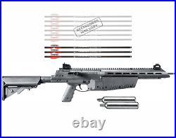 Umarex AirJavelin Arrow Gun Air Rifle w Carbon Fiber Arrows w 2x 90gr CO2 Tanks