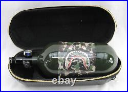 Used HK Army AeroLite 80/4500 HPA Paintball Tank with Exo Carbon Fiber Tank Case