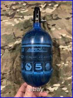 Used HK Army Aerolite Carbon Fiber Paintball Tank Air System 68ci 4500 psi Blue