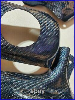 Yamaha Banshee Gas Tank Cover + Frame Guard Real carbon Fiber REFLECTED BLUE