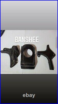 Yamaha Banshee Gas Tank Cover + Frame Guard Real carbon Fiber set